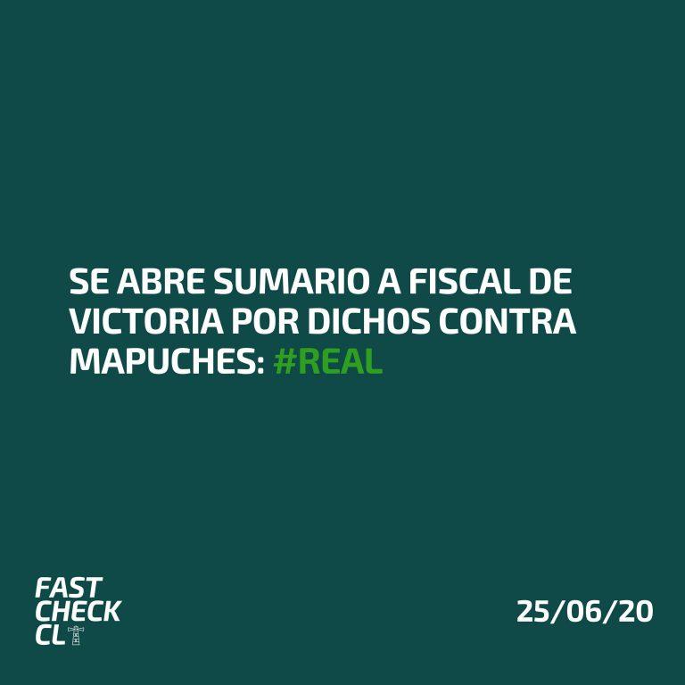 Read more about the article Se abre sumario a fiscal de Victoria por dichos contra mapuches: #Real