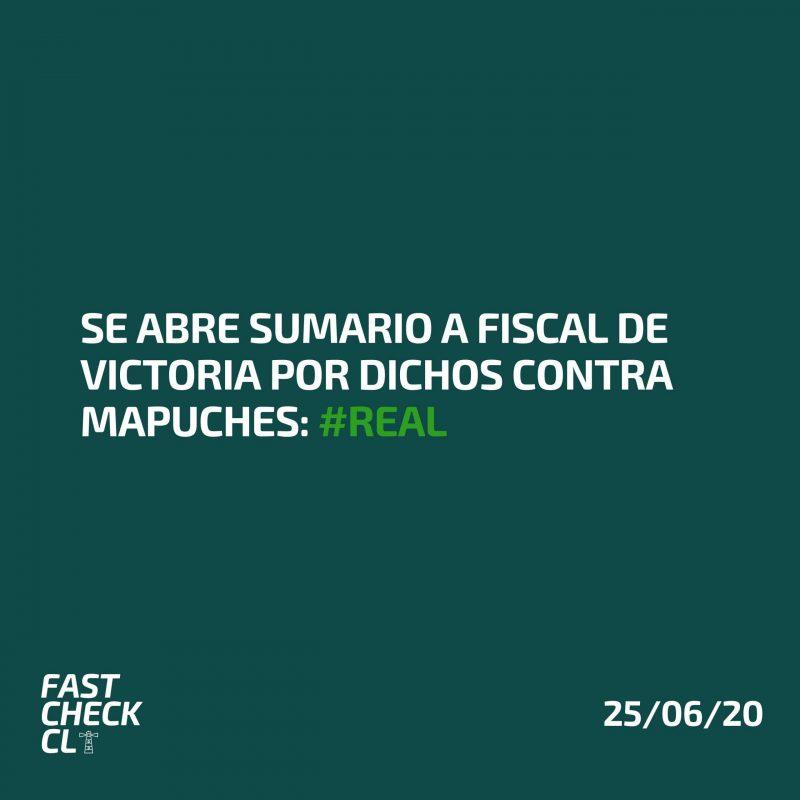 Se abre sumario a fiscal de Victoria por dichos contra mapuches: #Real