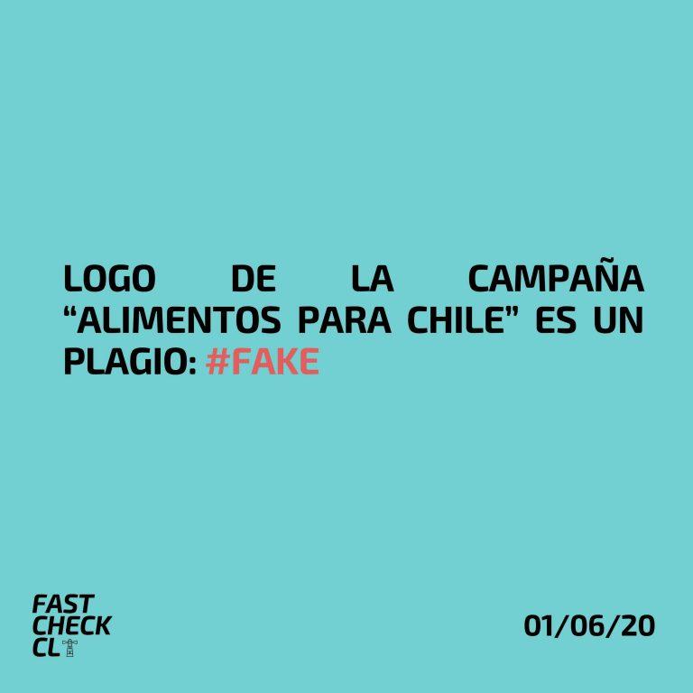 """Logo de la campaña """"Alimentos para Chile"""" es un plagio: #Fake"""