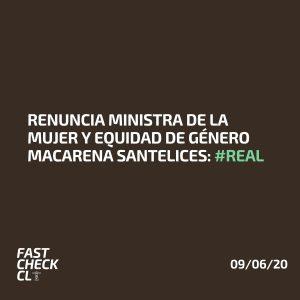 Renuncia Ministra de la Mujer y Equidad de Género Macarena Santelices: #Real