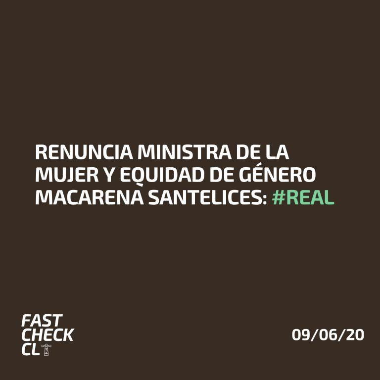 Read more about the article Renuncia Ministra de la Mujer y Equidad de Género Macarena Santelices: #Real