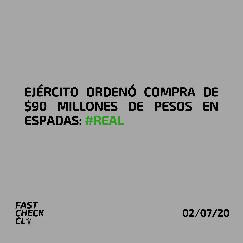 Read more about the article Ejército ordenó compra de $90 millones de pesos en espadas: #Real
