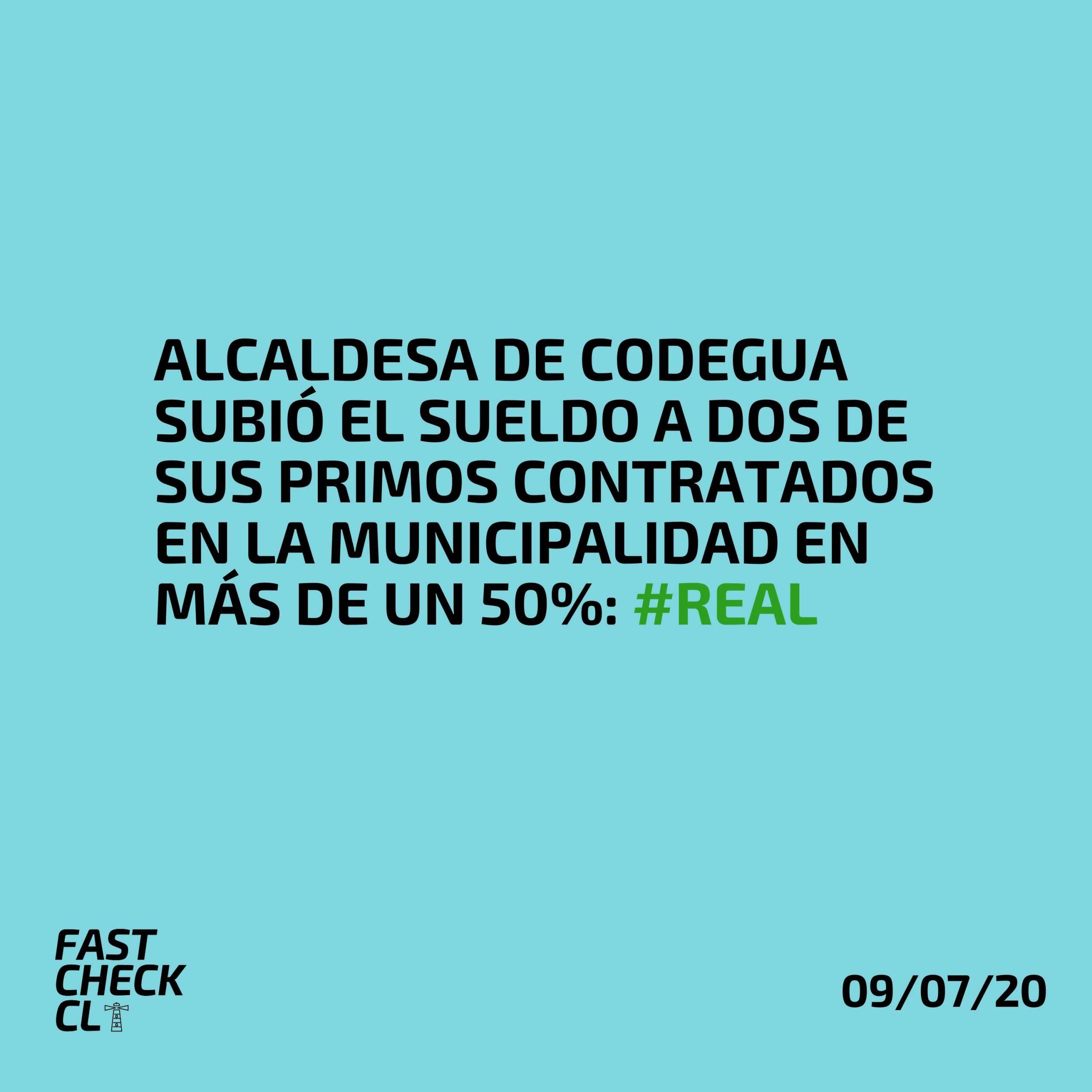 Alcaldesa de Codegua subió el sueldo a dos de sus primos contratados en la municipalidad en más de un 50%: #Real