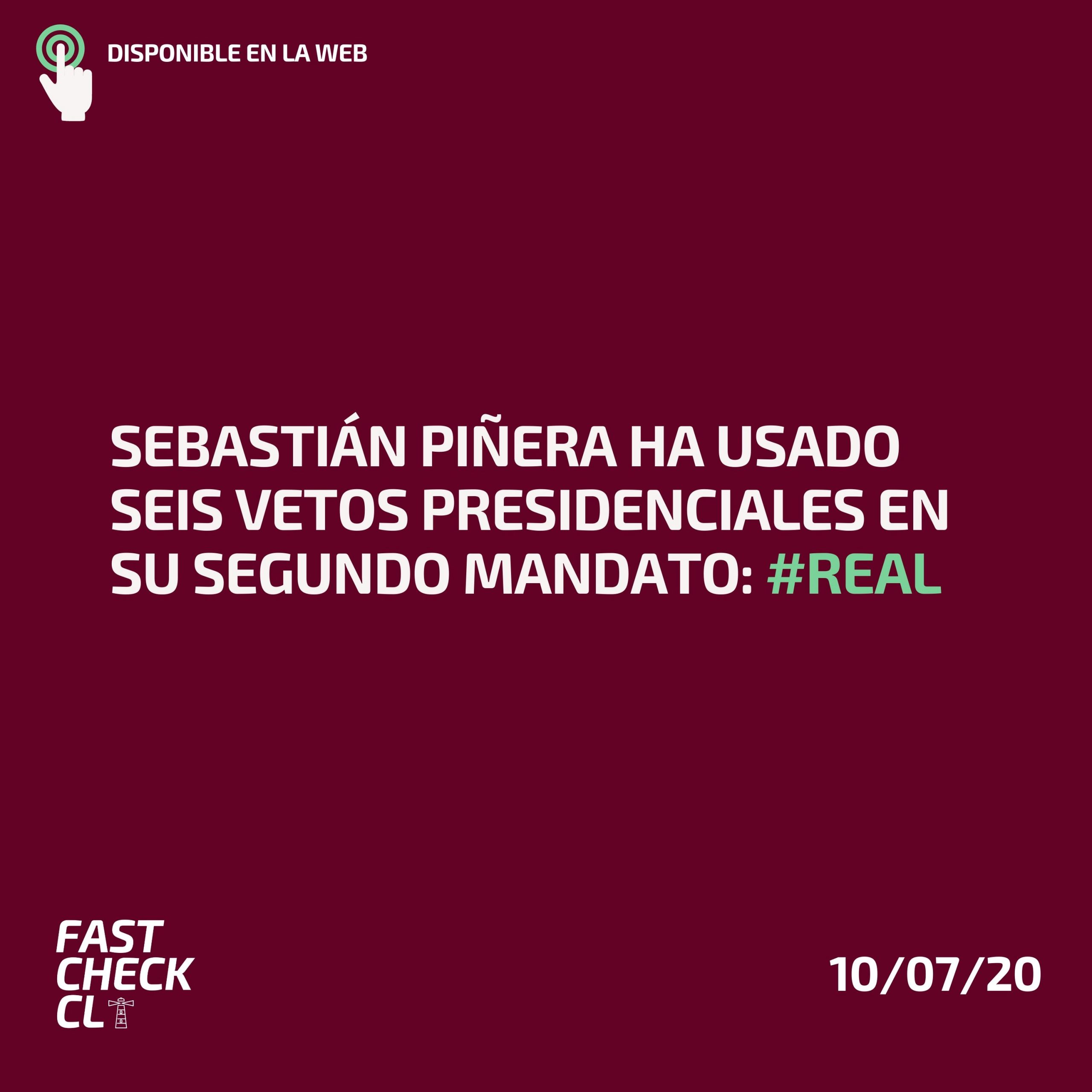 Sebastián Piñera ha usado seis vetos presidenciales en su segundo mandato #Real