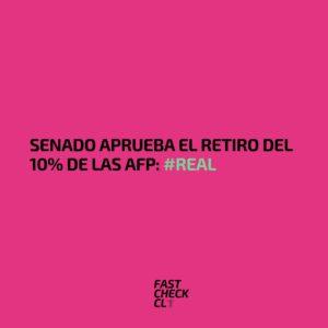 Senado aprueba el retiro del 10% de las AFP: #Real