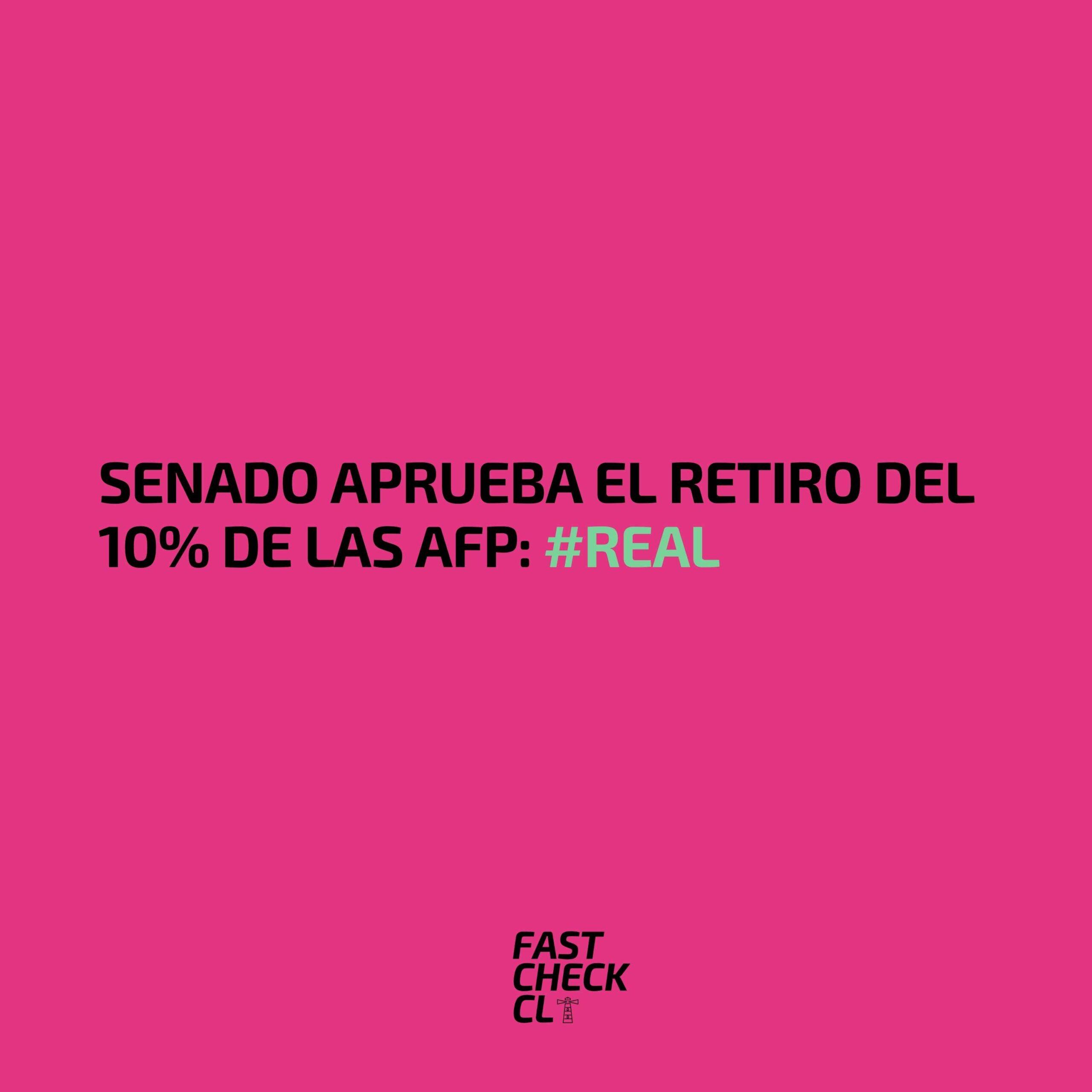 Read more about the article Senado aprueba el retiro del 10% de las AFP: #Real