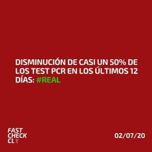 Disminución de casi un 50% de los test PCR en los últimos 12 días: #Real