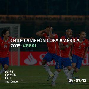 Chile campeón Copa América 2015: #Real