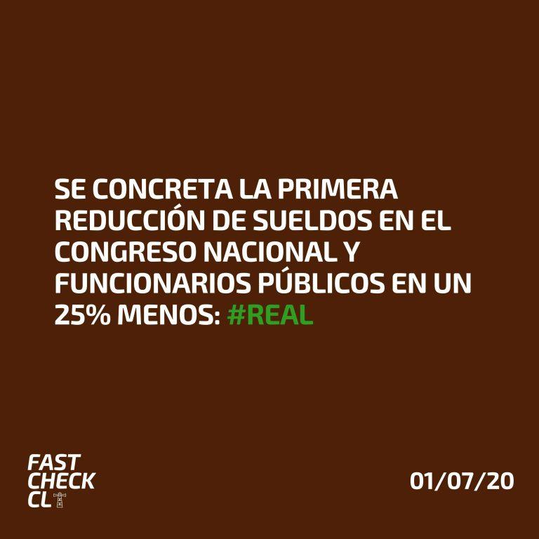 Read more about the article Se concreta la primera reducción de sueldos en el Congreso Nacional y funcionarios públicos en un 25% menos: #Real