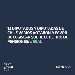 13 diputados y diputadas de Chile Vamos votaron a favor de legislar sobre el retiro de pensiones: #Real