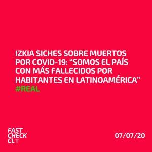 """Izkia Siches sobre muertos por Covid-19: """"Somos el país con más fallecidos por habitantes en Latinoamérica"""" #Real"""
