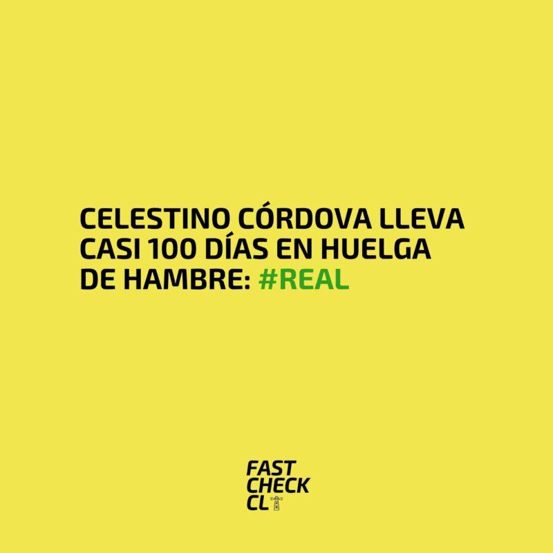 Celestino Córdova lleva casi 100 días en huelga de hambre: #Real