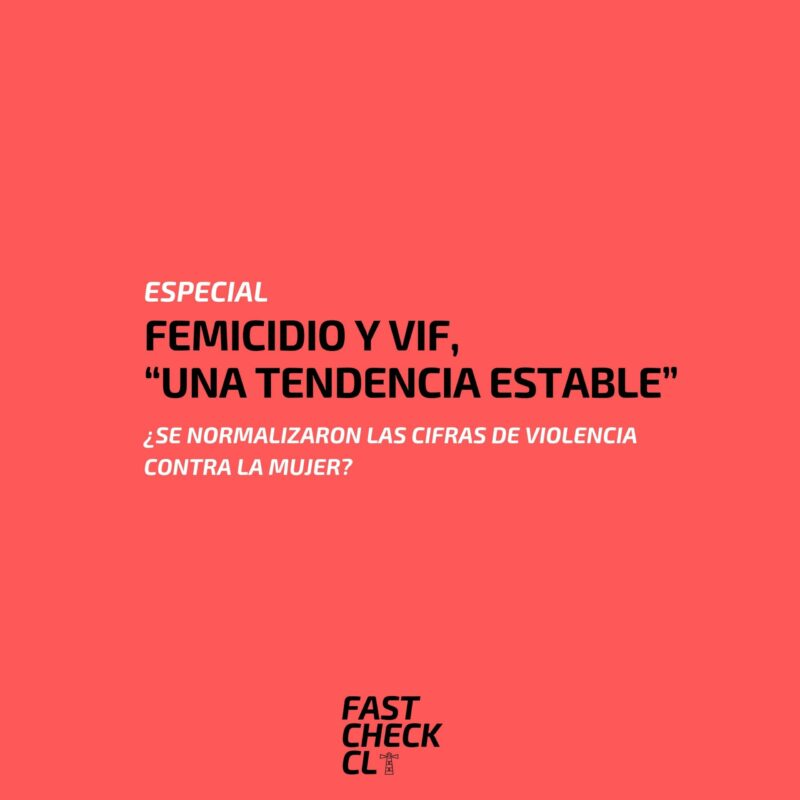 "Femicidio y VIF, ""una tendencia estable"""