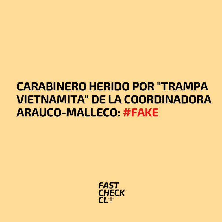 """Carabinero herido por """"trampa vietnamita"""" de la Coordinadora Arauco-Malleco: #Fake"""