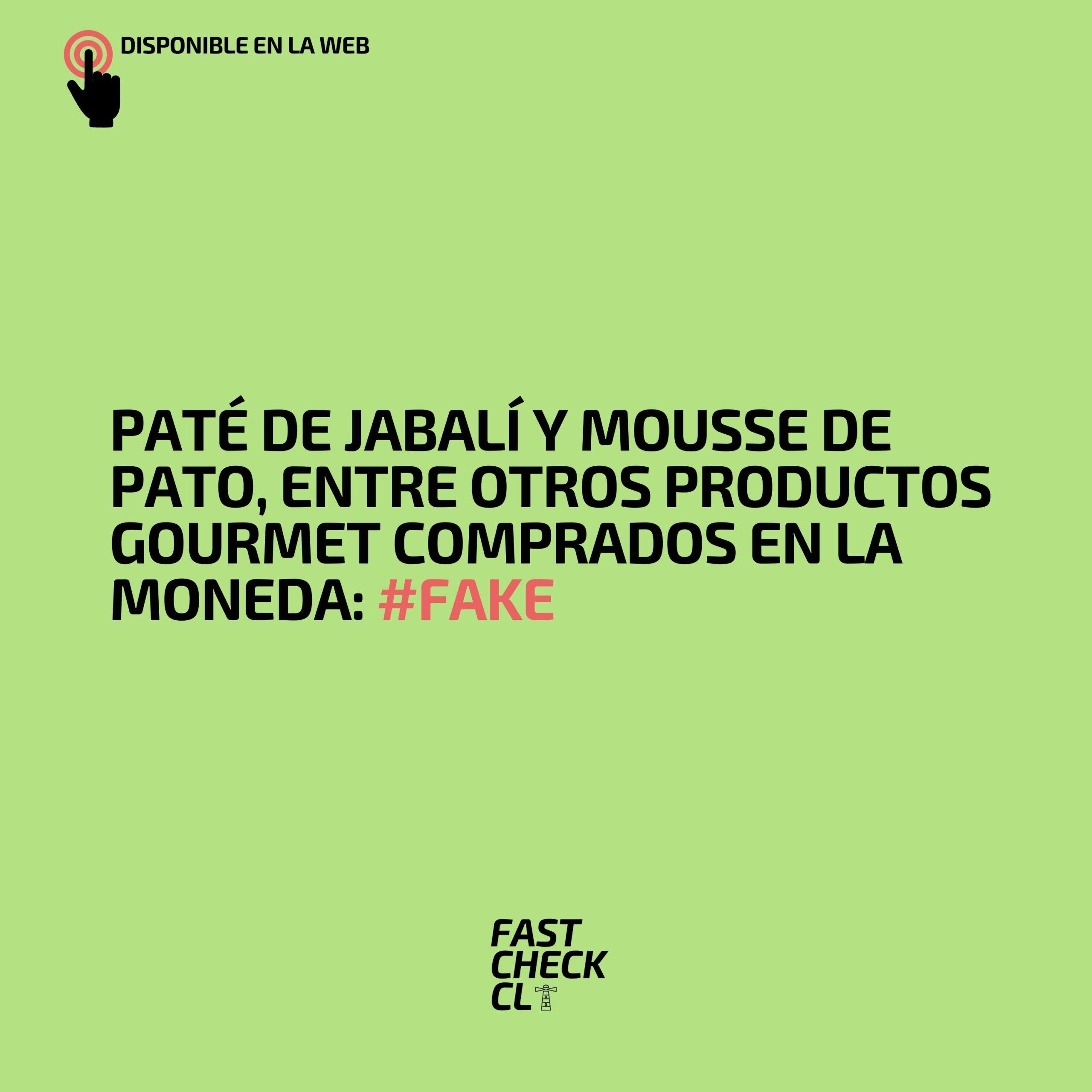 Paté de jabalí y mousse de pato, entre otros productos gourmet comprados en La Moneda: #Fake