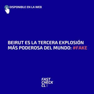 Beirut es la tercera explosión más poderosa del mundo: #Fake