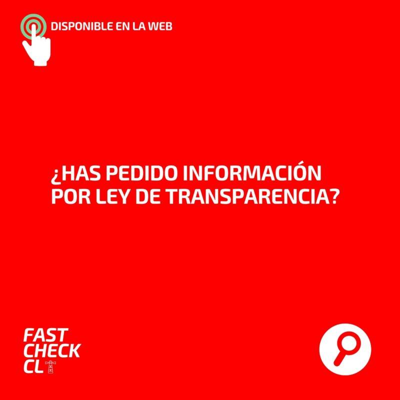 ¿Has pedido información por Ley de Transparencia?