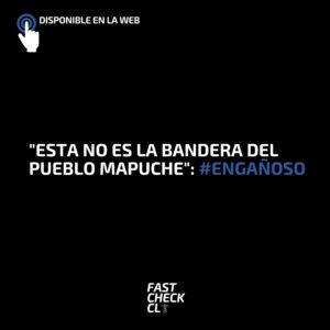 """""""Esta no es la bandera del Pueblo Mapuche"""": #Engañoso"""