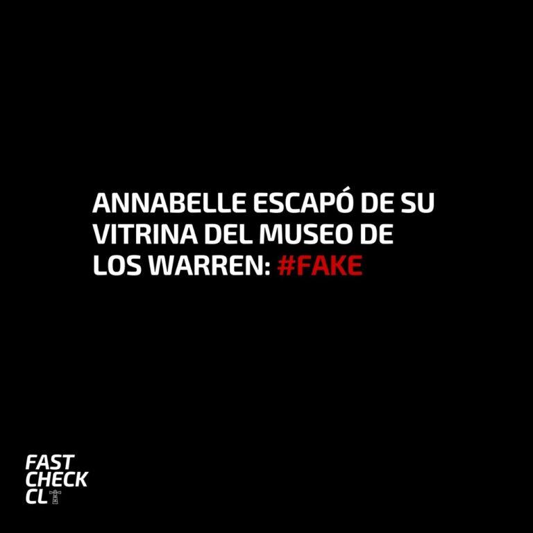 Annabelle escapó de su vitrina del museo de los Warren: #Fake