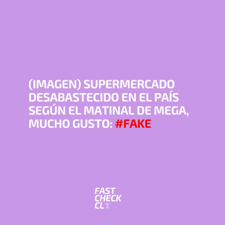 (Imagen) Supermercado desabastecido en el país según el matinal de Mega, Mucho Gusto: #Fake