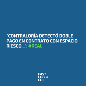 """Contraloría detectó doble pago en contrato con Espacio Riesco…"": #Real"