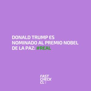 Donald Trump es nominado al Premio Nobel de la Paz: #Real