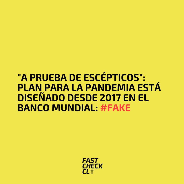 Plan para la pandemia está diseñado desde 2017 en el Banco Mundial: #Fake