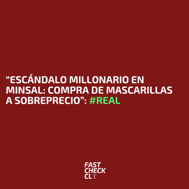 """""""Escándalo millonario en Minsal: Compra de mascarillas a sobreprecio"""": #Real"""