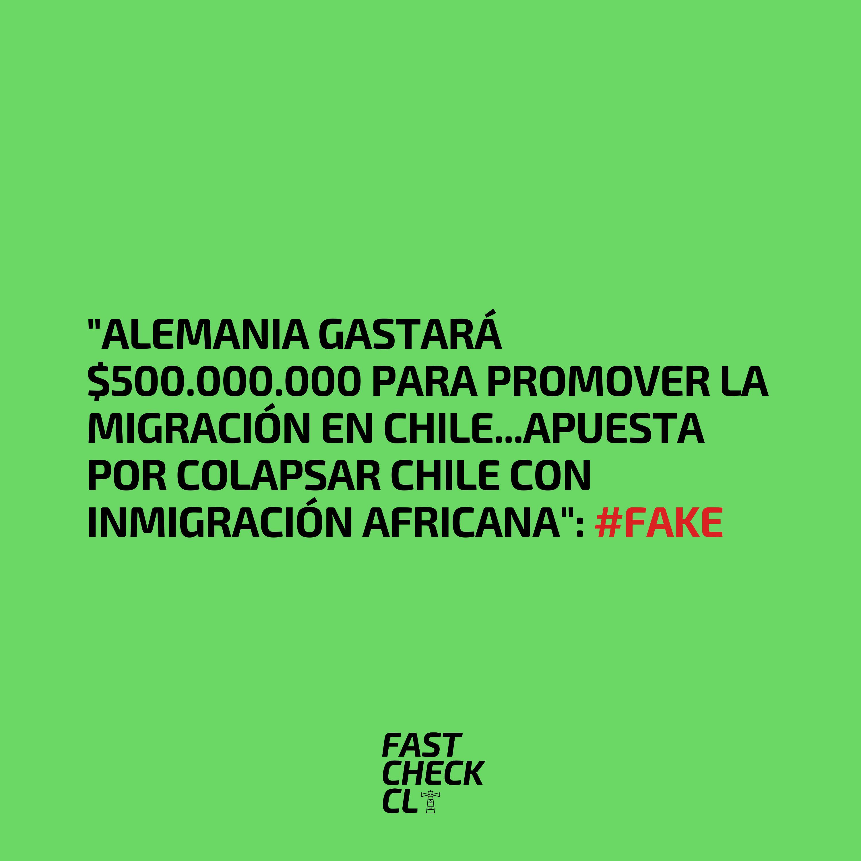 """Read more about the article """"Alemania gastará $500.000.000 para promover la migración en Chile…Apuesta por colapsar Chile con inmigración africana"""": #Fake"""