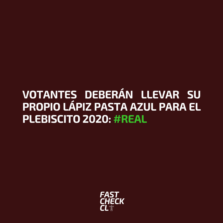 Read more about the article Votantes deberán llevar su propio lápiz pasta azul para el Plebiscito 2020: #Real