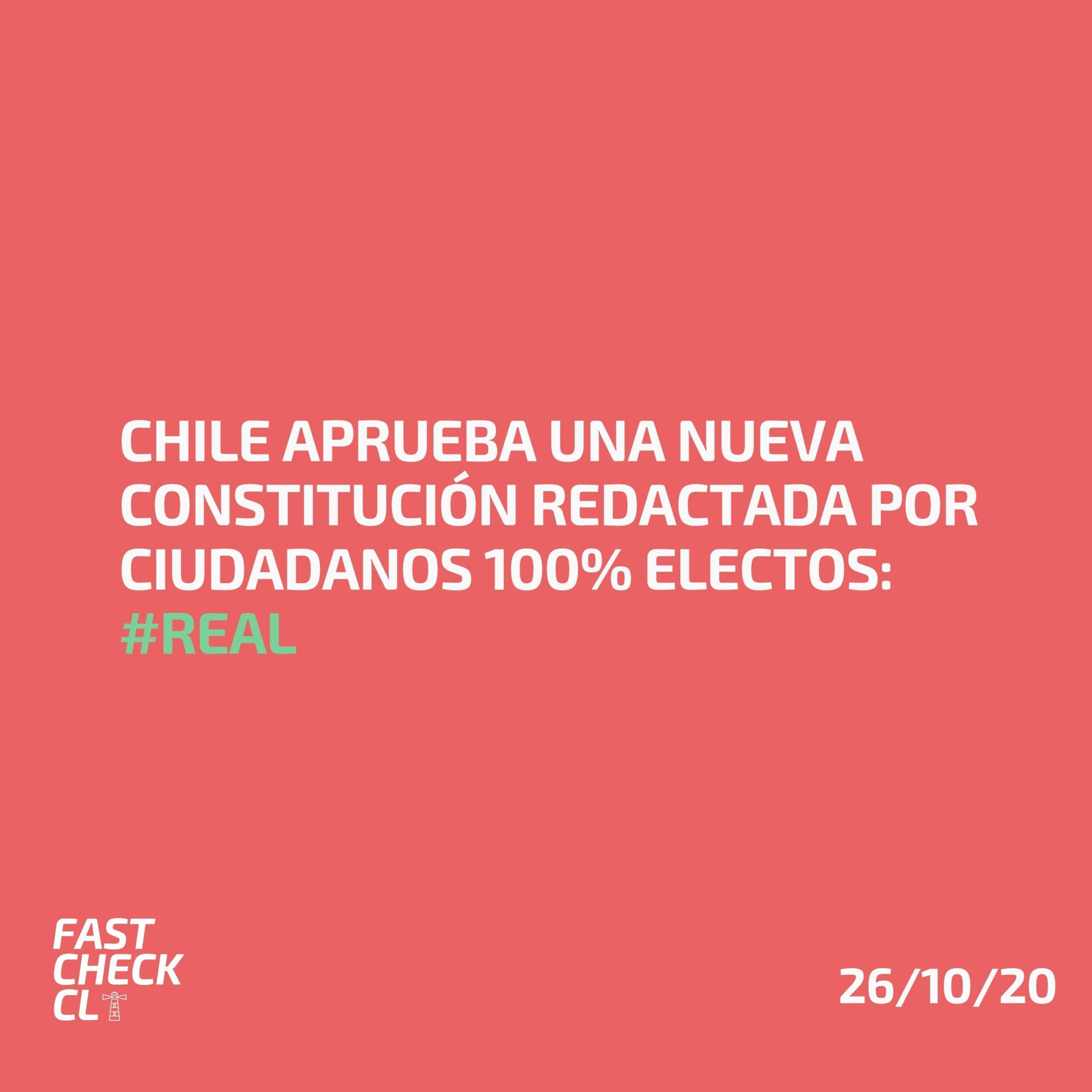 Chile aprueba una Nueva Constitución redactada por ciudadanos 100% electos: #Real