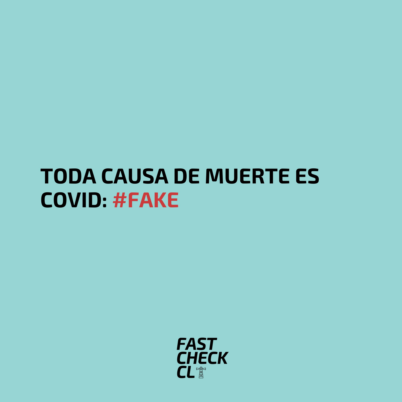 Toda causa de muerte es COVID: #Fake