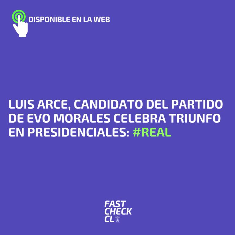 Luis Arce, candidato del partido de Evo Morales celebra triunfo en presidenciales: #Real