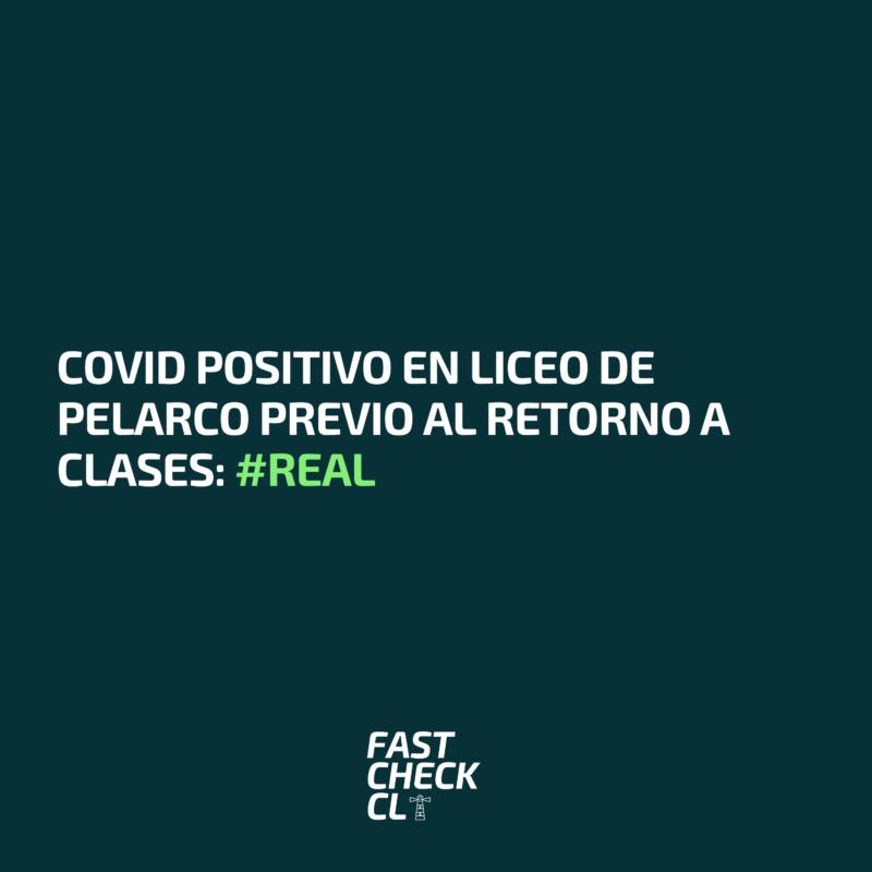 Covid positivo en liceo de Pelarco previo al retorno a clases: #Real
