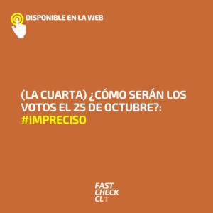 (La Cuarta) ¿Cómo serán los votos el 25 de octubre?: #Impreciso