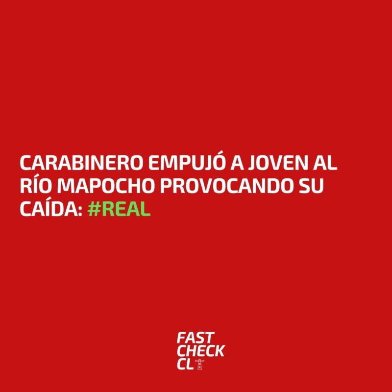 Carabinero empujó a joven al río Mapocho provocando su caída: #Real
