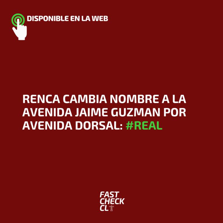 Renca cambia nombre a la Avenida Jaime Guzman por Avenida Dorsal: #Real