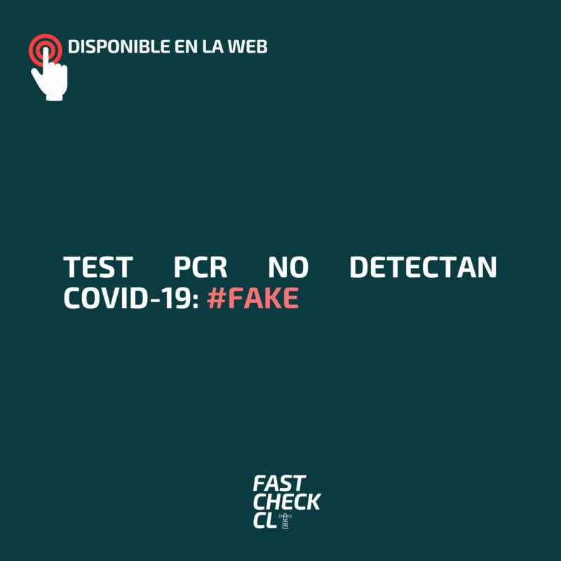 Test PCR no detectan Covid-19: #Fake