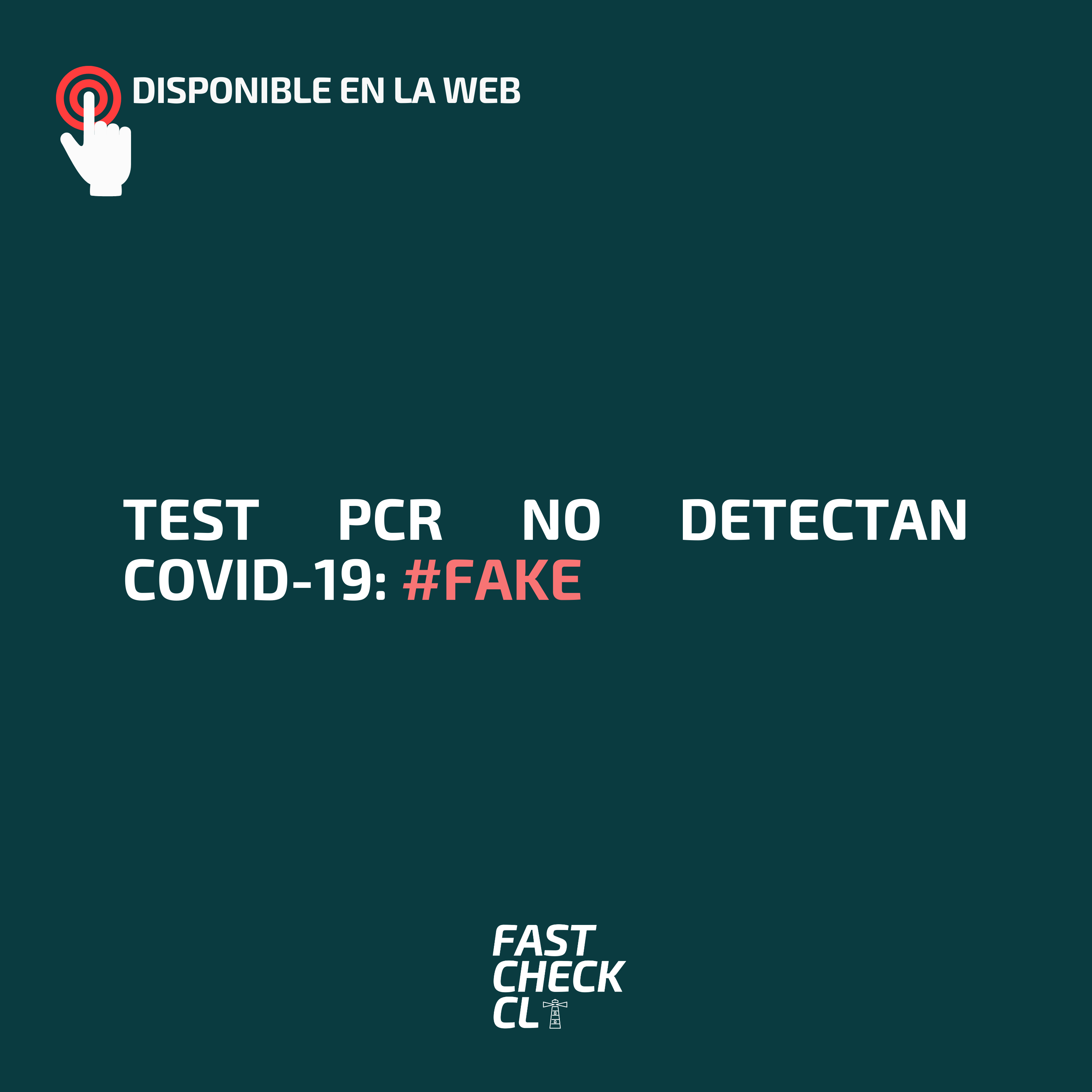 Test PCR no detectan Covid-19: #Fake