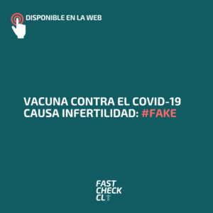 Vacuna contra el covid-19 causa infertilidad: #Fake