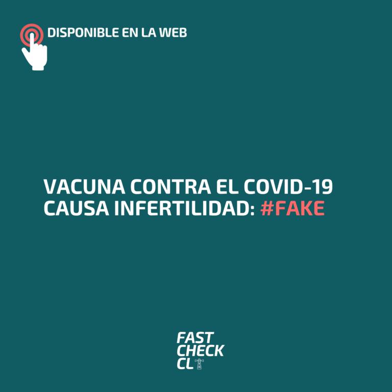 Vacuna contra el covid-19 causa infertilidad: #Fake