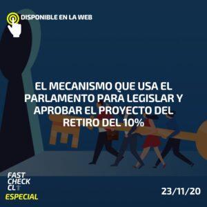 El mecanismo que usa el Parlamento para legislar y aprobar el proyecto del retiro del 10%