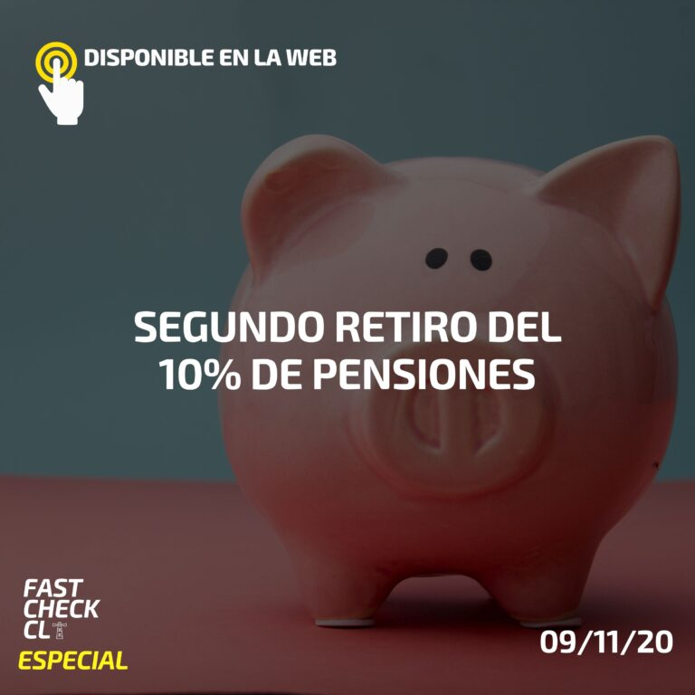 Segundo retiro del 10% de pensiones