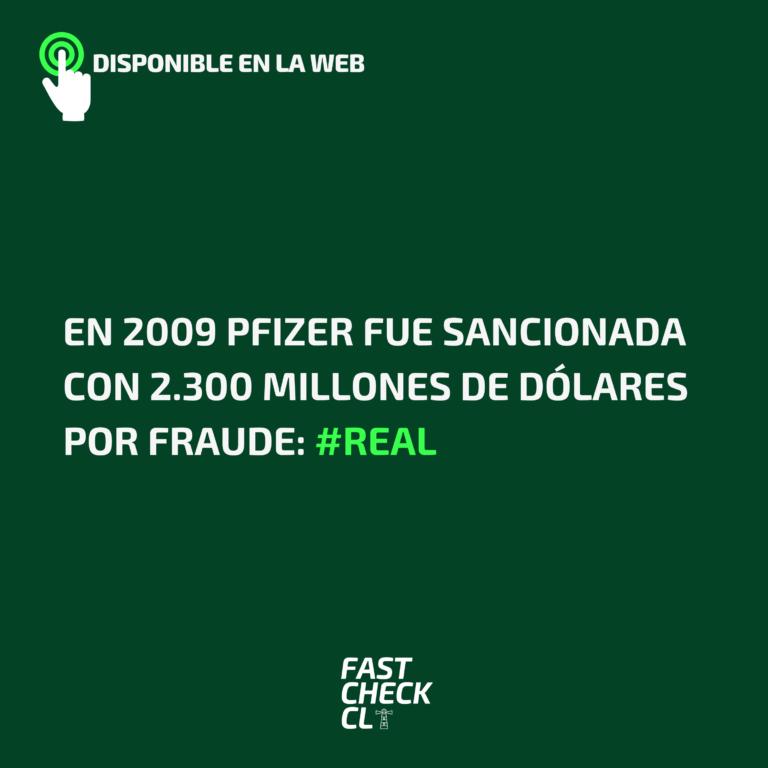 En 2009 Pfizer fue sancionada con 2.300 millones de dólares por fraude: #Real