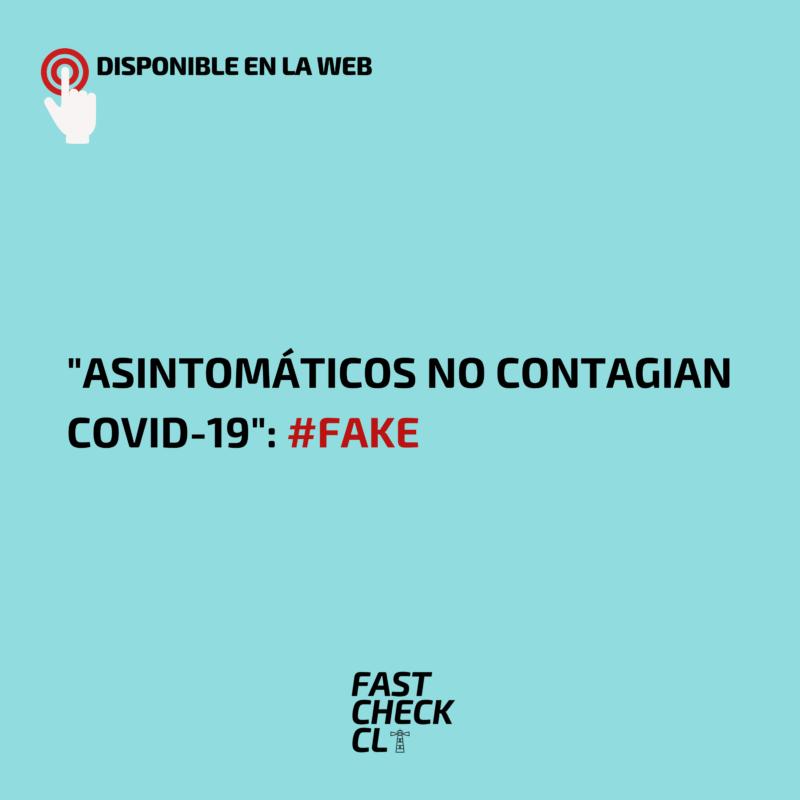 """Asintomáticos no contagian covid-19"": #Fake"