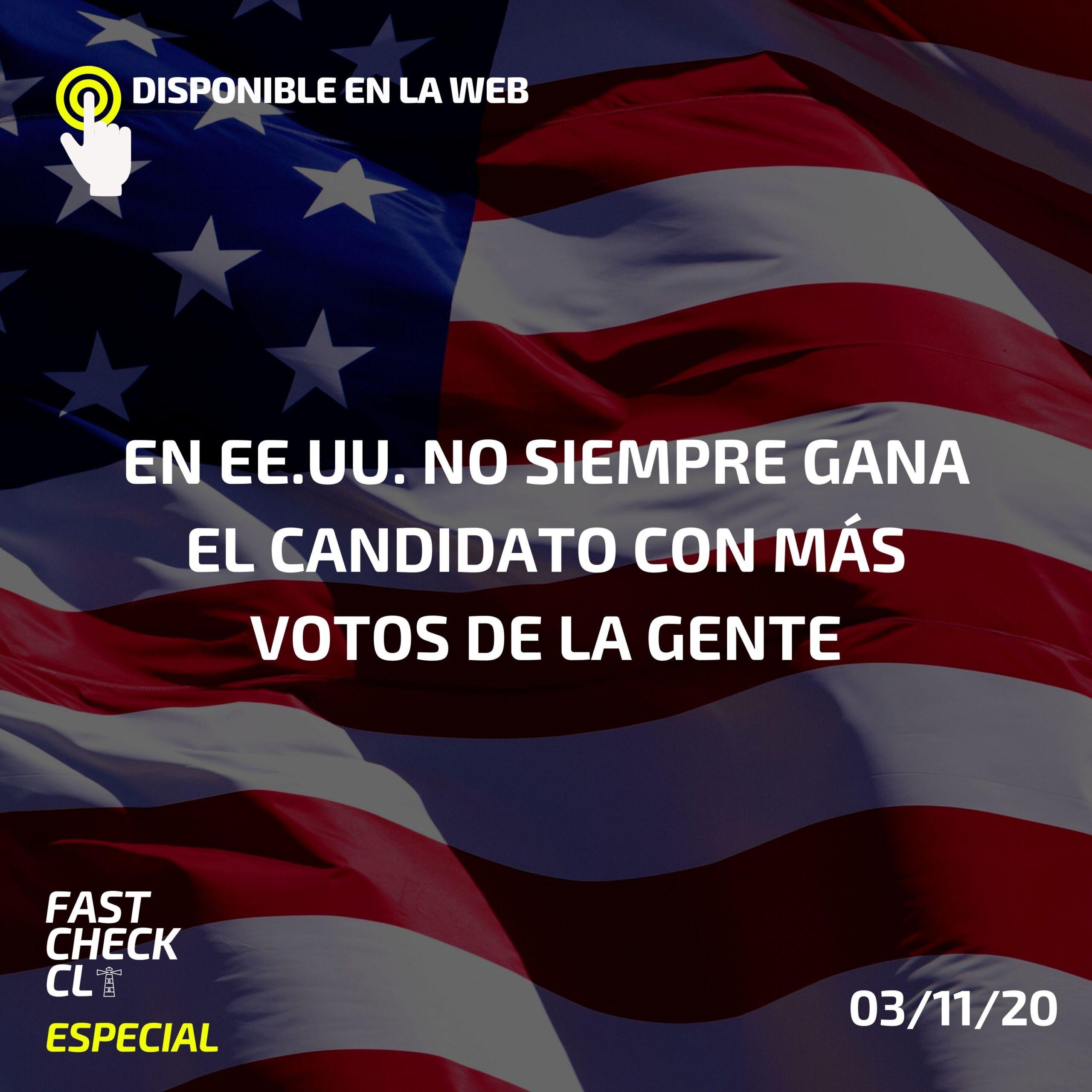 Read more about the article En EE.UU. no siempre gana el candidato con más votos de la gente