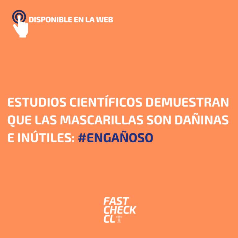 Estudios científicos demuestran que las mascarillas son dañinas e inútiles: #Engañoso