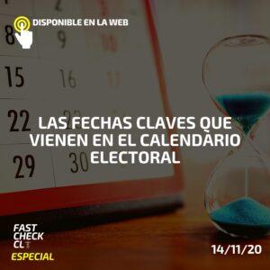 Las fechas claves que vienen en el calendario electoral