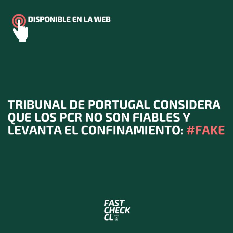 Tribunal de Portugal considera que los PCR no son fiables y levanta el confinamiento: #Fake