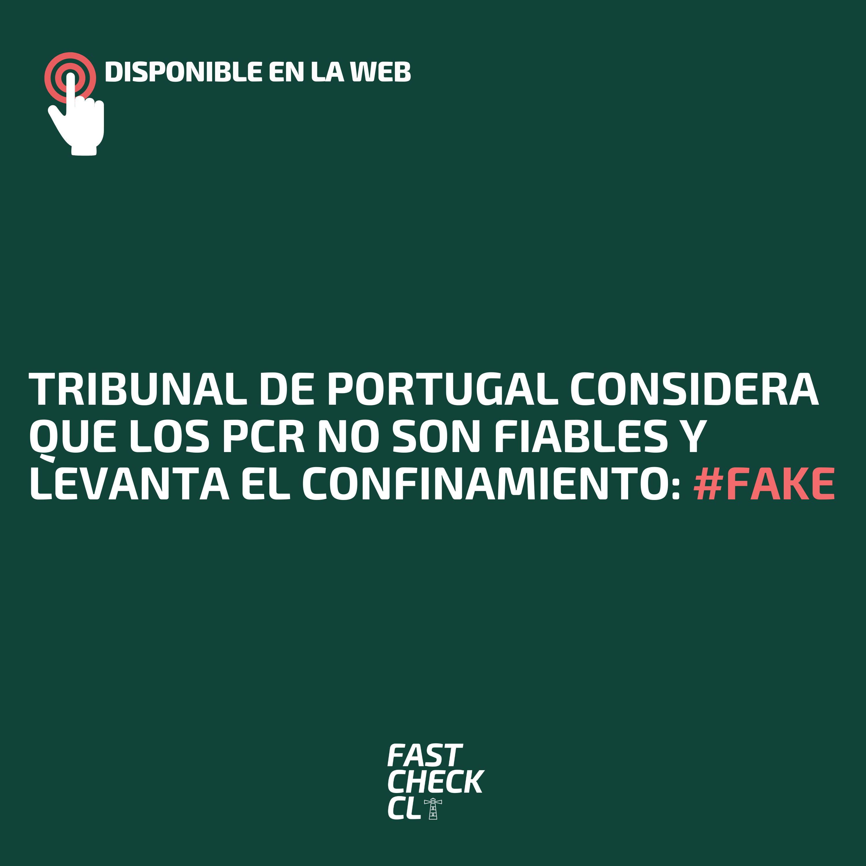 Read more about the article Tribunal de Portugal considera que los PCR no son fiables y levanta el confinamiento: #Fake